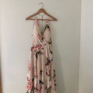 Jenny Yoo Collection Farrah Halter Gown Floral